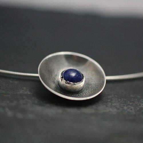 Ketting - Zilver – Lapis Lazuli - Kettinghanger – Pebbles Lalaz